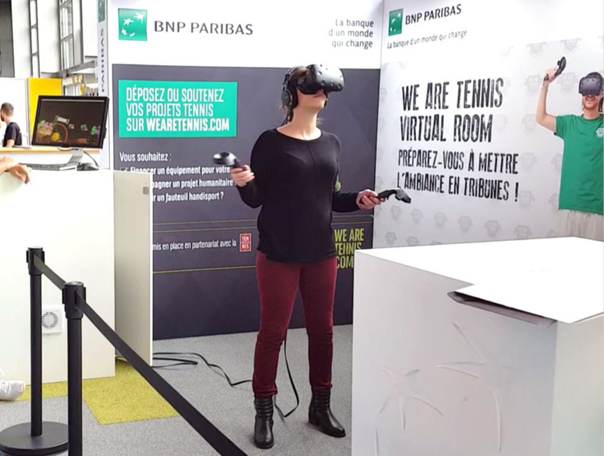 VR experience during tennis tournaments